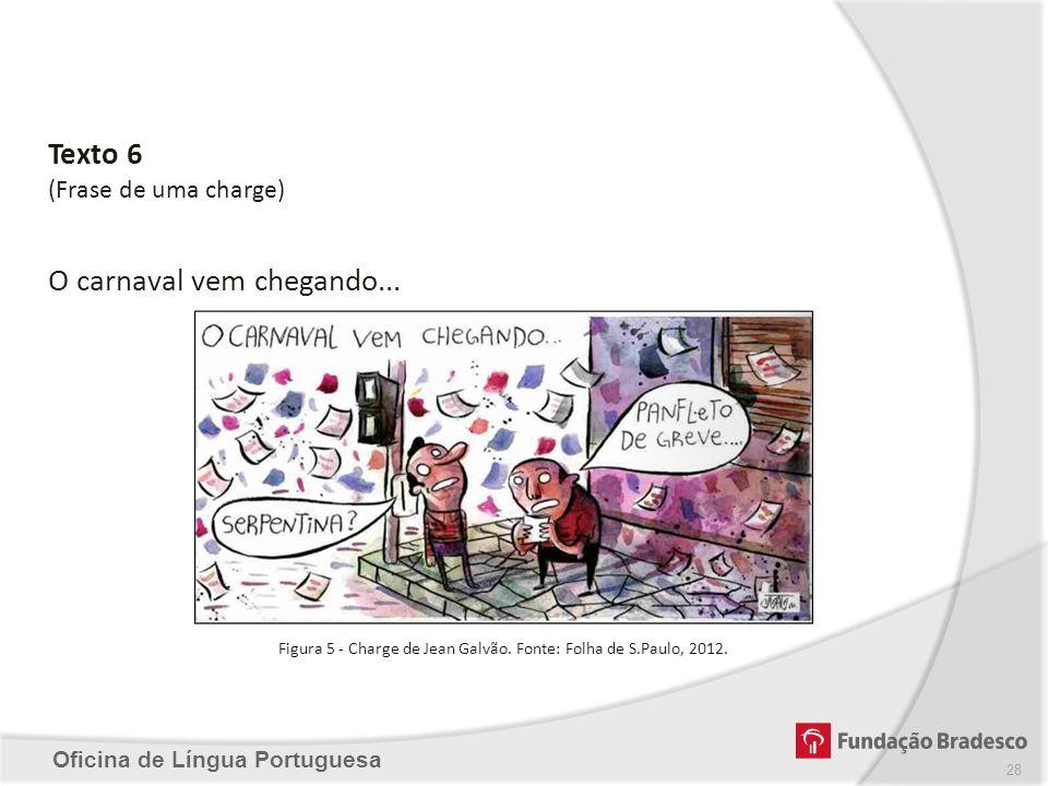 Figura 5 - Charge de Jean Galvão. Fonte: Folha de S.Paulo, 2012.