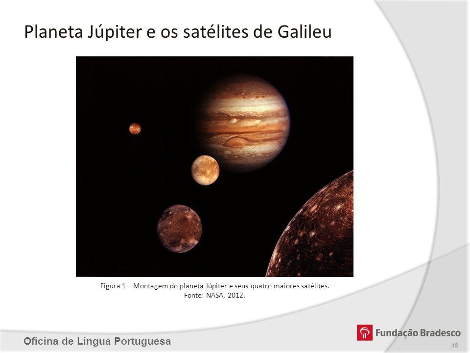 Planeta Júpiter e os satélites de Galileu
