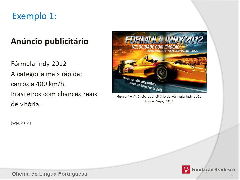 Figura 4 – Anúncio publicitário da Fórmula Indy 2012.