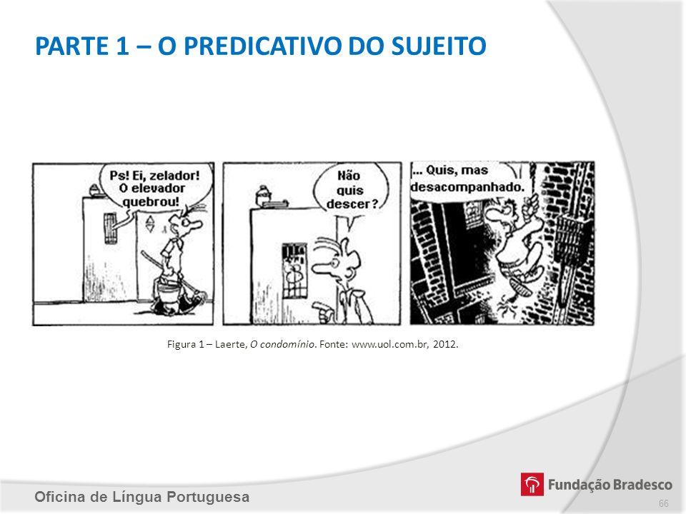 PARTE 1 – O PREDICATIVO DO SUJEITO