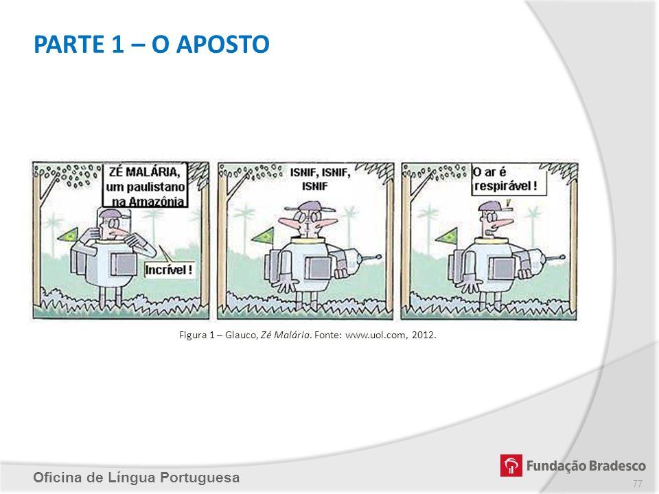 Figura 1 – Glauco, Zé Malária. Fonte: www.uol.com, 2012.