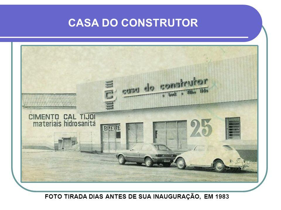 FOTO TIRADA DIAS ANTES DE SUA INAUGURAÇÃO, EM 1983