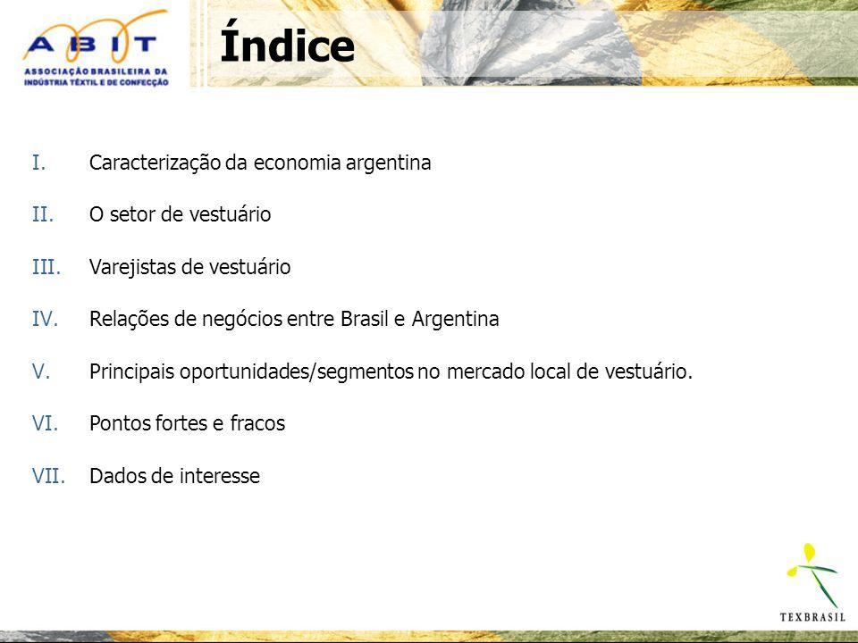 Índice Caracterização da economia argentina O setor de vestuário