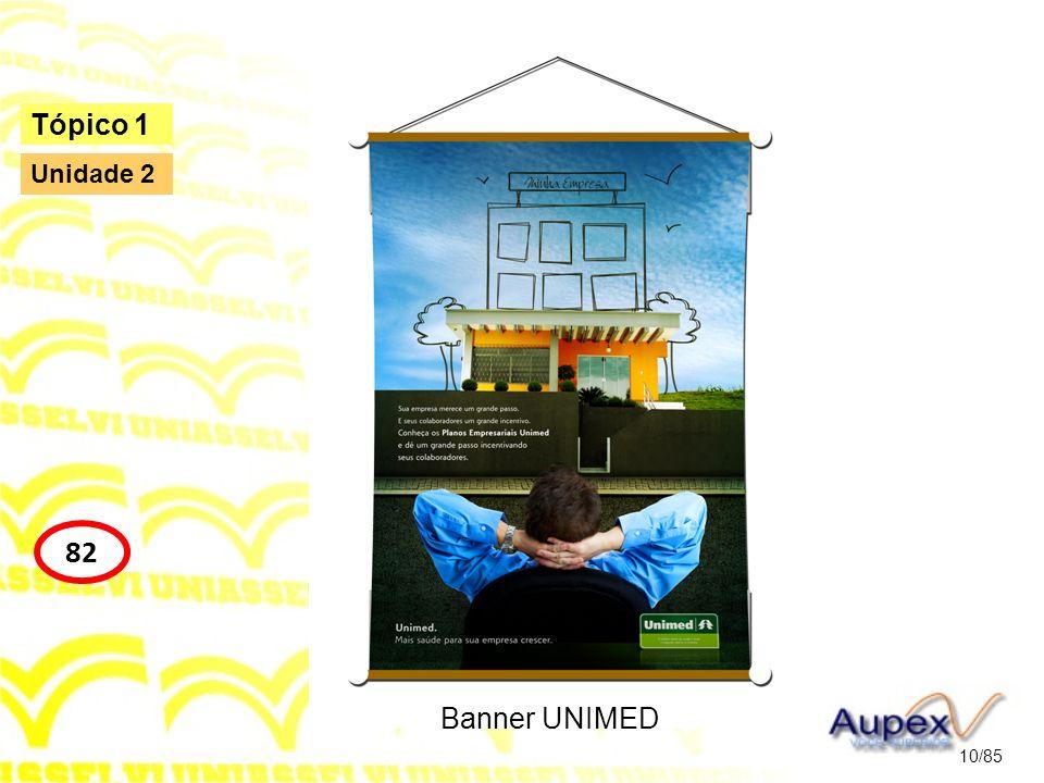 Tópico 1 Unidade 2 82 Banner UNIMED 10/85