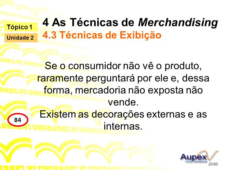 4 As Técnicas de Merchandising 4.3 Técnicas de Exibição