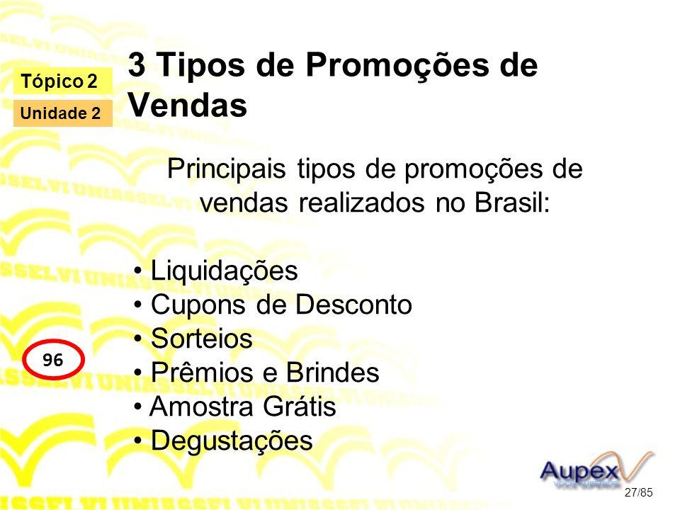 3 Tipos de Promoções de Vendas