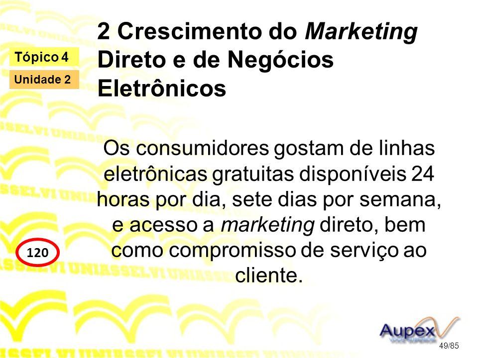 2 Crescimento do Marketing Direto e de Negócios Eletrônicos