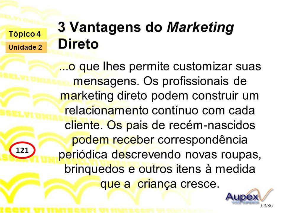 3 Vantagens do Marketing Direto