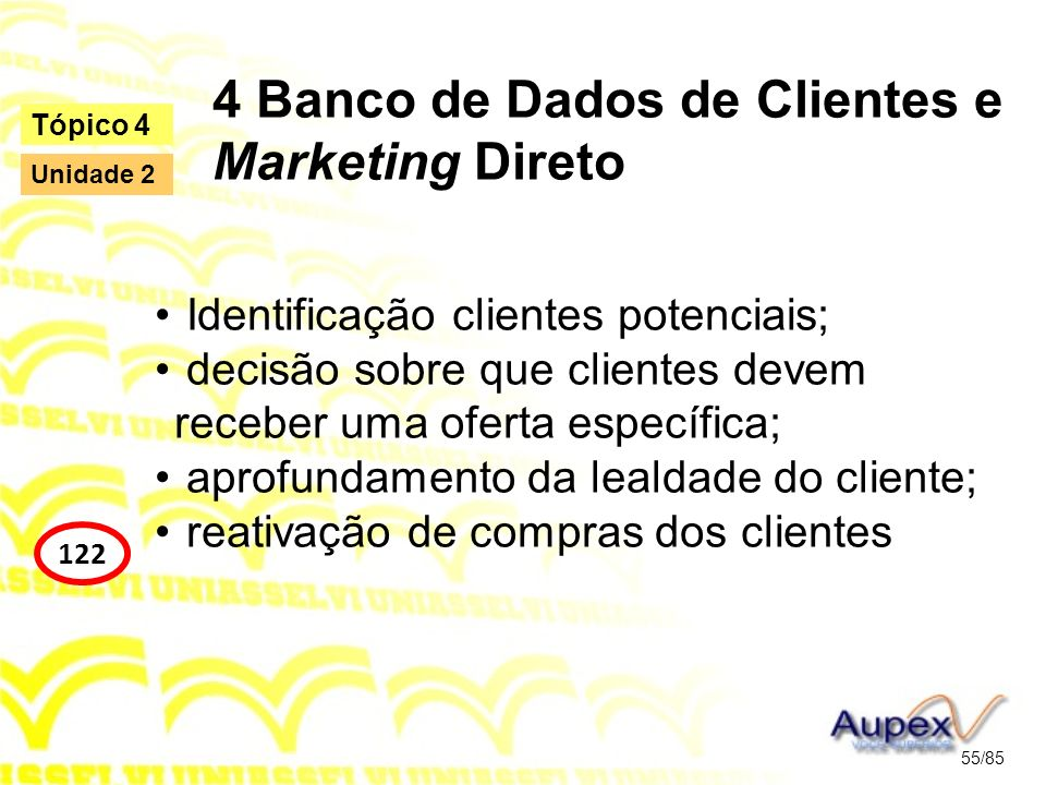 4 Banco de Dados de Clientes e Marketing Direto