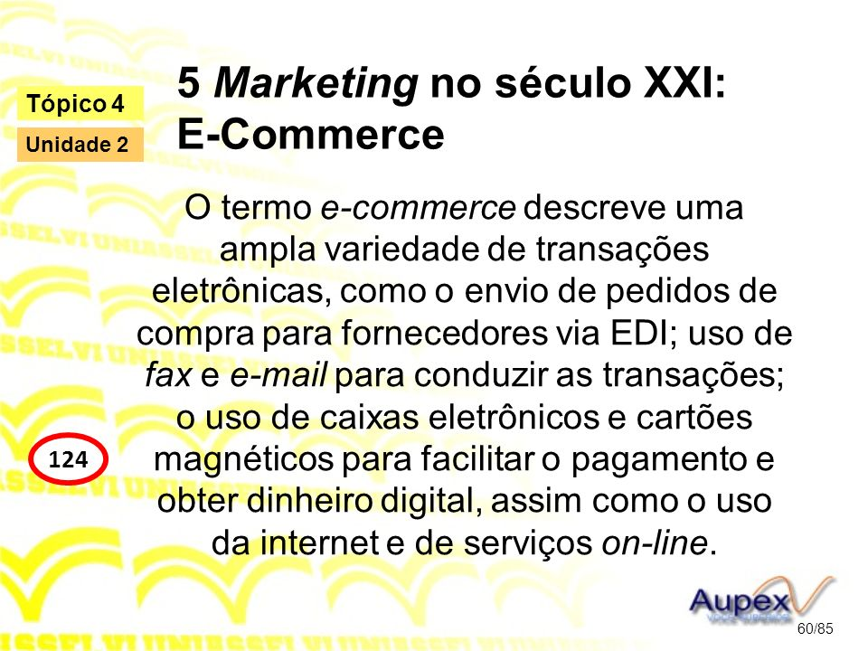 5 Marketing no século XXI: E-Commerce