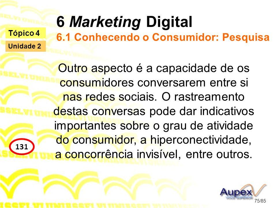 6 Marketing Digital 6.1 Conhecendo o Consumidor: Pesquisa