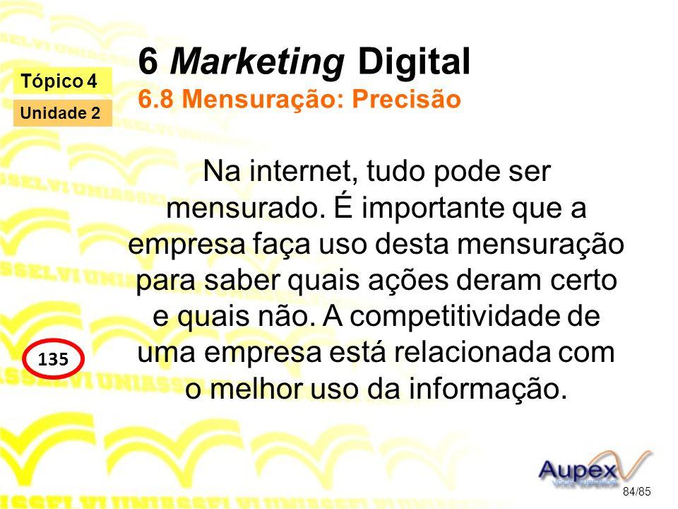 6 Marketing Digital 6.8 Mensuração: Precisão