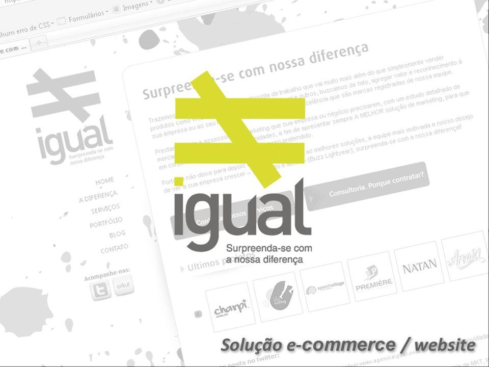 Solução e-commerce / website