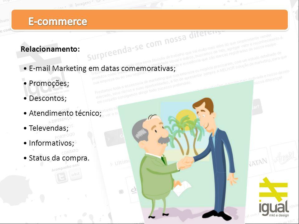 E-commerce Relacionamento: E-mail Marketing em datas comemorativas;