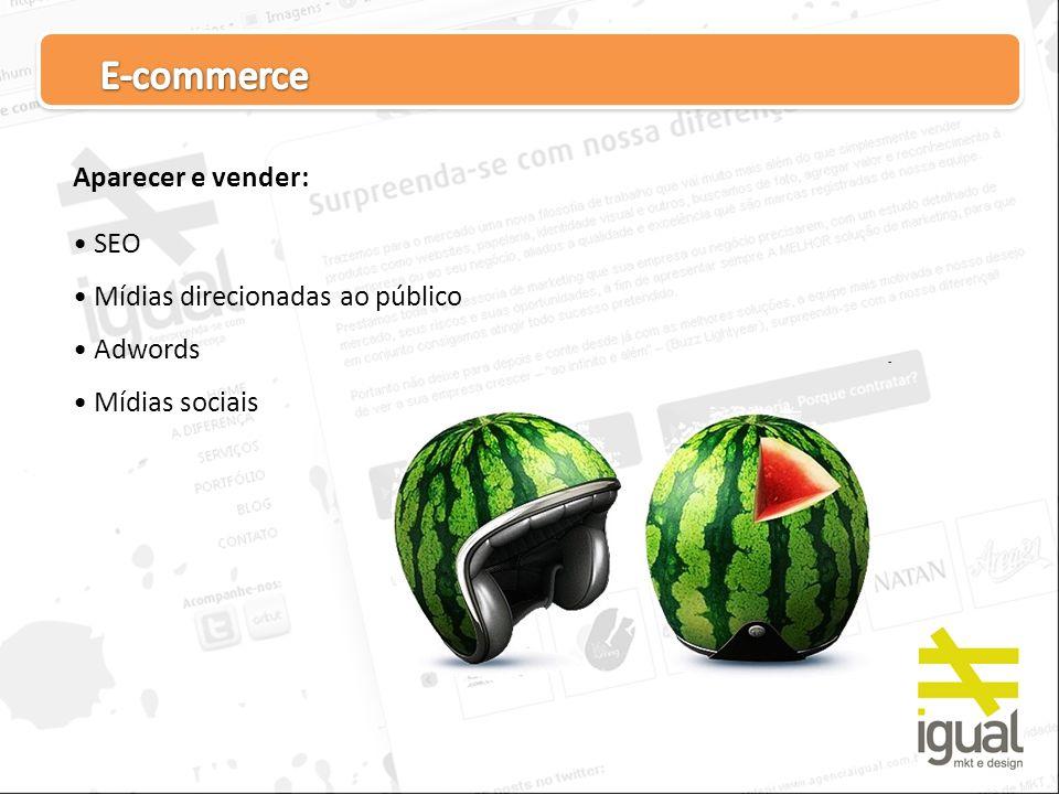 E-commerce Aparecer e vender: SEO Mídias direcionadas ao público