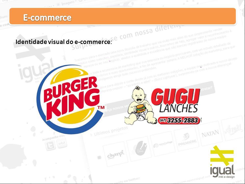 E-commerce Identidade visual do e-commerce: