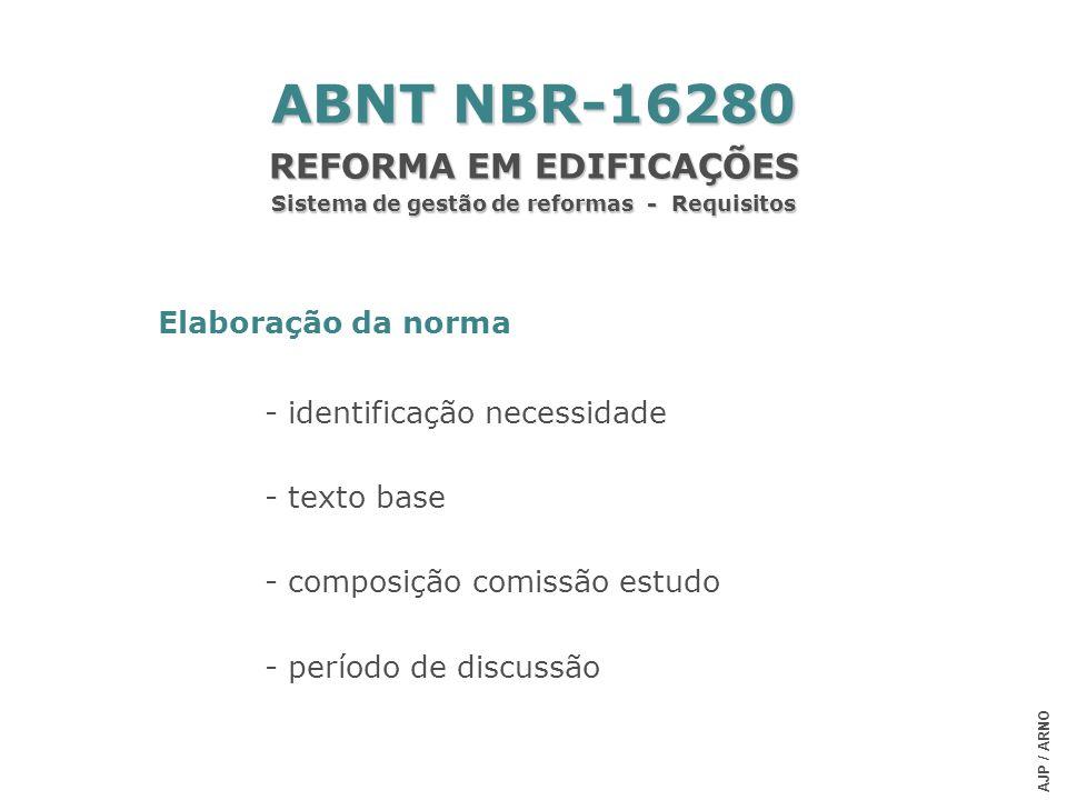 REFORMA EM EDIFICAÇÕES Sistema de gestão de reformas - Requisitos