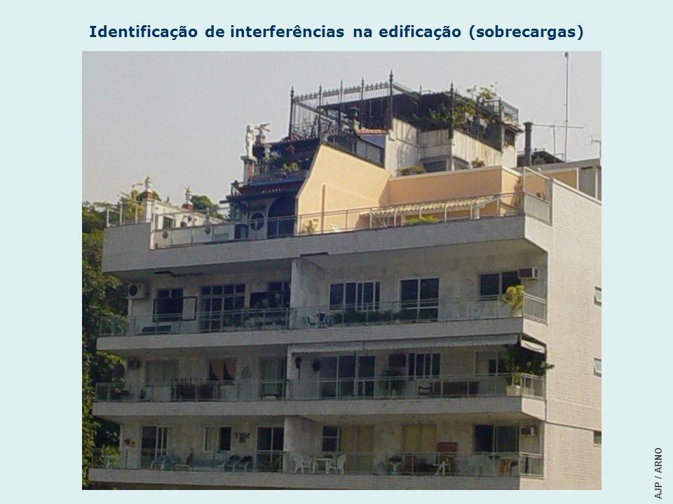 Identificação de interferências na edificação (sobrecargas)