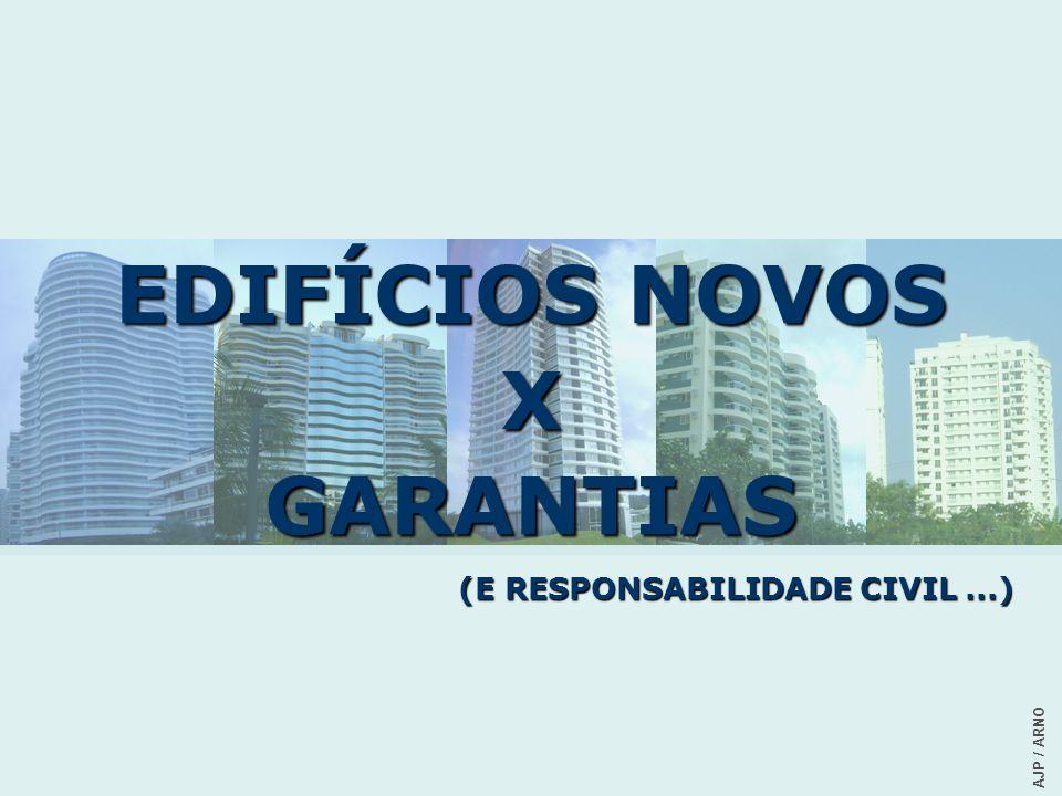 EDIFÍCIOS NOVOS X GARANTIAS