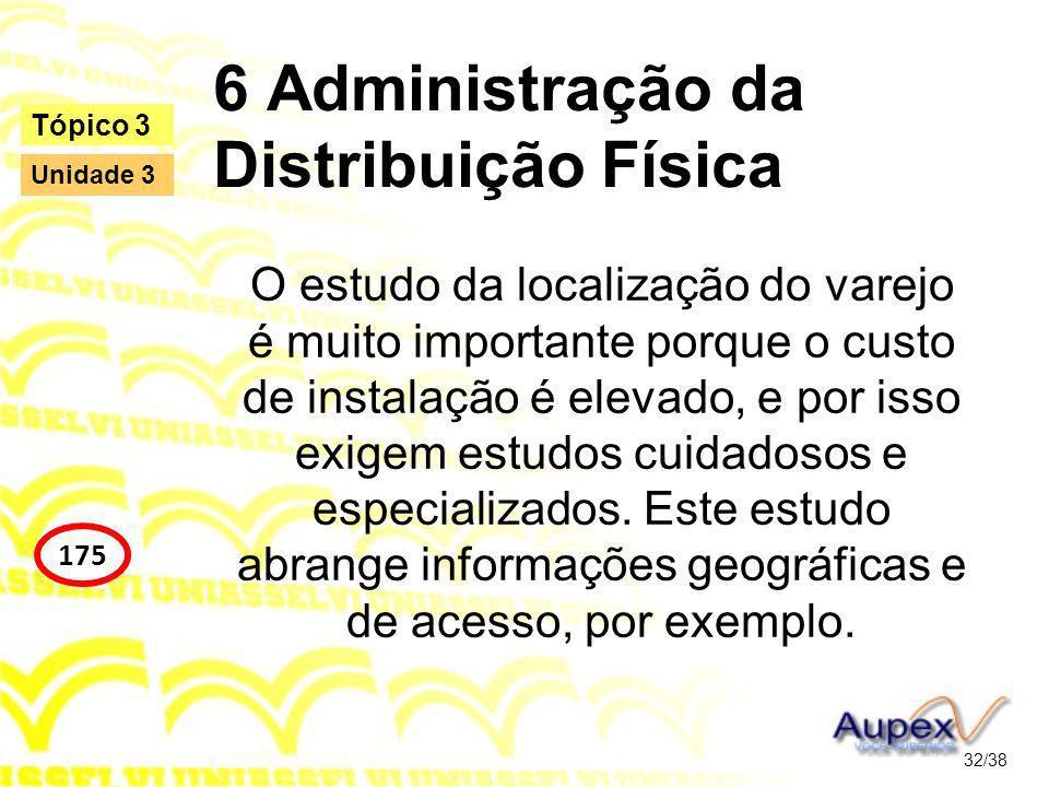 6 Administração da Distribuição Física