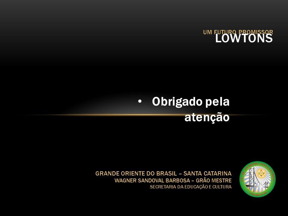 LOWTONS Obrigado pela atenção UM FUTURO PROMISSOR