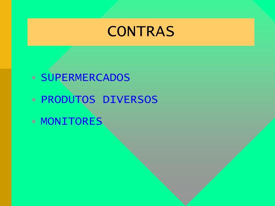 CONTRAS SUPERMERCADOS. PRODUTOS DIVERSOS. MONITORES.