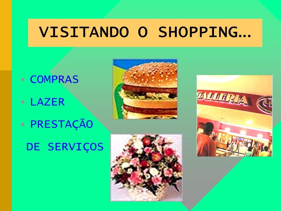 VISITANDO O SHOPPING... COMPRAS LAZER PRESTAÇÃO DE SERVIÇOS