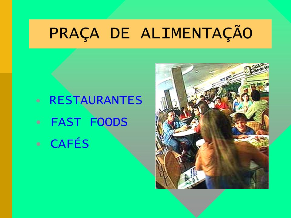 PRAÇA DE ALIMENTAÇÃO PRAÇA DE ALIMENTAÇÃO FAST FOODS CAFÉS