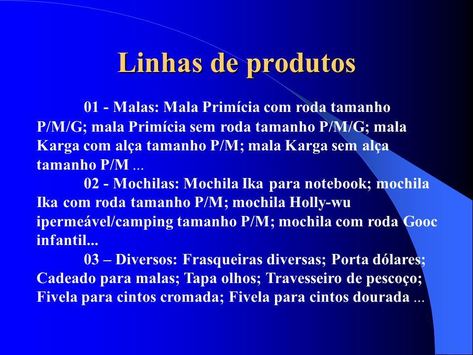 Linhas de produtos