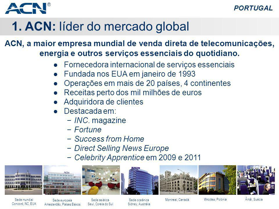 1. ACN: líder do mercado global