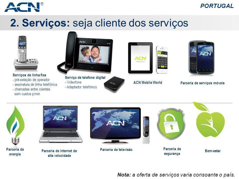 Parceria de serviços móveis Parceria de Internet de alta velocidade