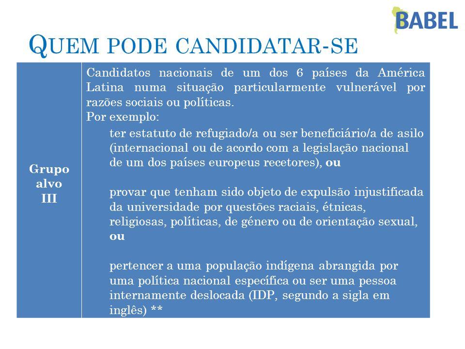 Quem pode candidatar-se