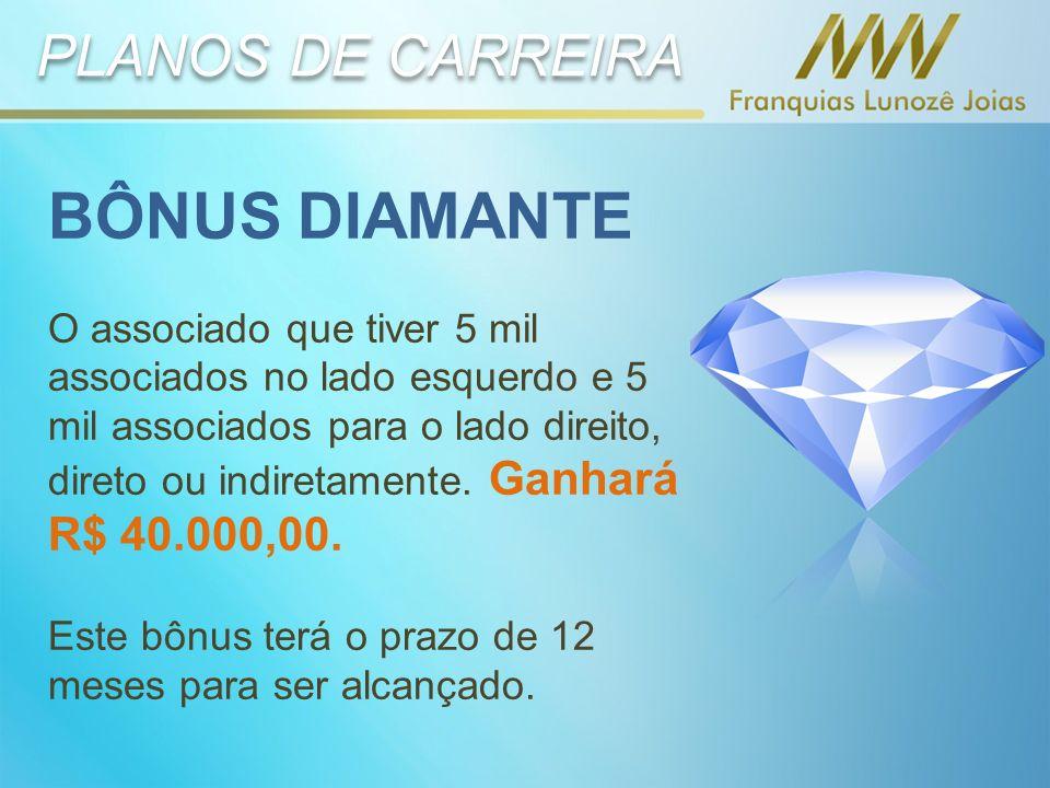 BÔNUS DIAMANTE PLANOS DE CARREIRA