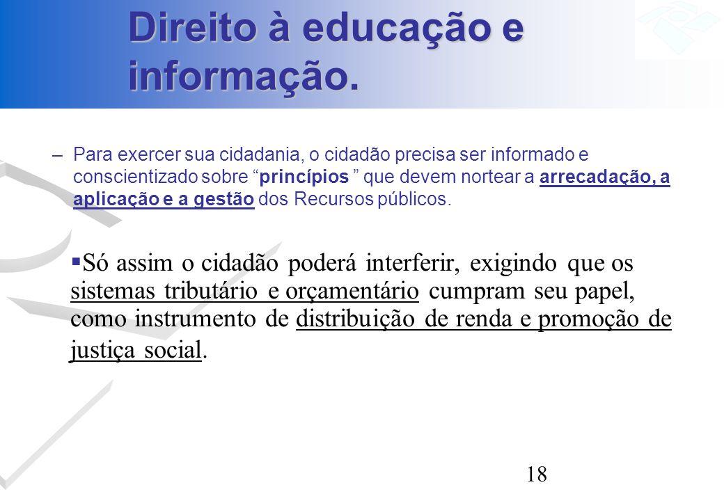 Direito à educação e informação.