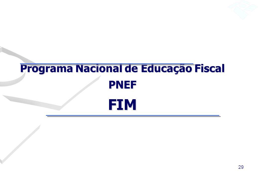 Programa Nacional de Educação Fiscal PNEF FIM