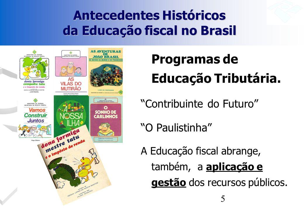 Antecedentes Históricos da Educação fiscal no Brasil