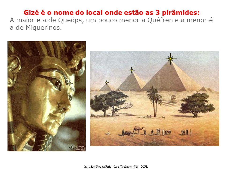 Gizé é o nome do local onde estão as 3 pirâmides: