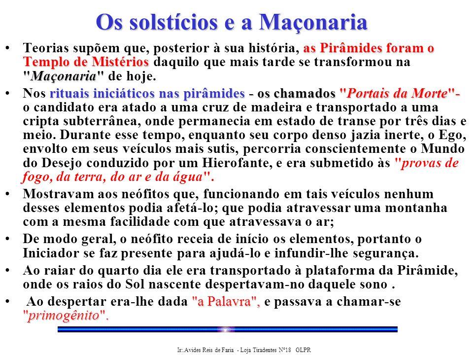 Os solstícios e a Maçonaria