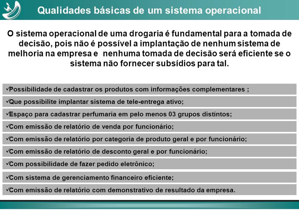 Qualidades básicas de um sistema operacional