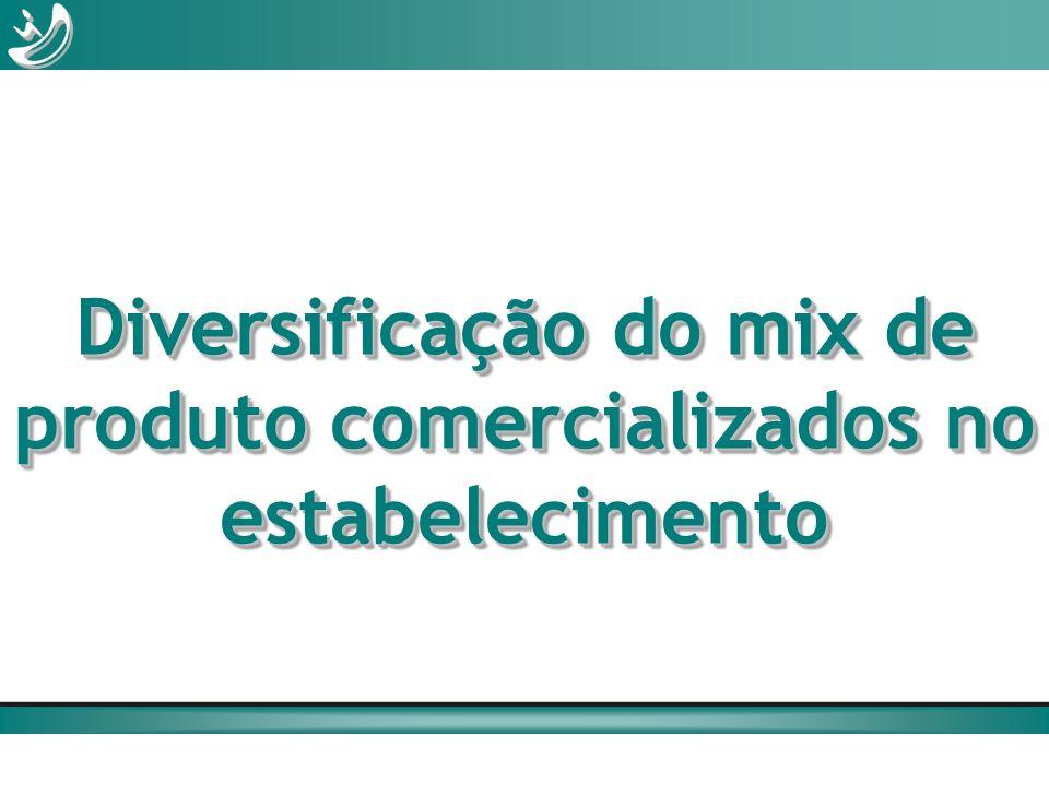 Diversificação do mix de produto comercializados no estabelecimento