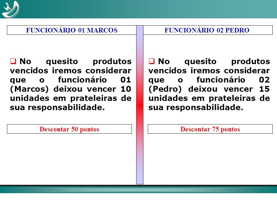 FUNCIONÁRIO 01 MARCOS FUNCIONÁRIO 02 PEDRO.