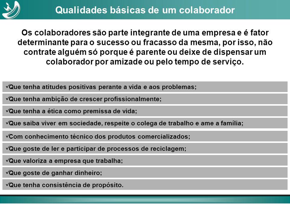 Qualidades básicas de um colaborador
