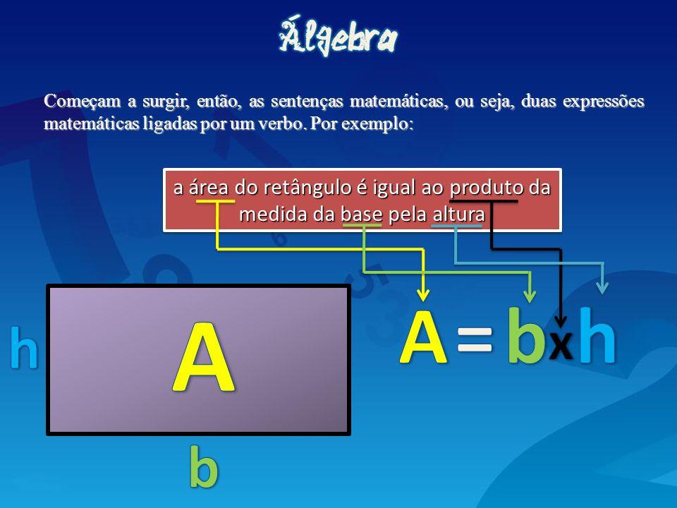 a área do retângulo é igual ao produto da medida da base pela altura