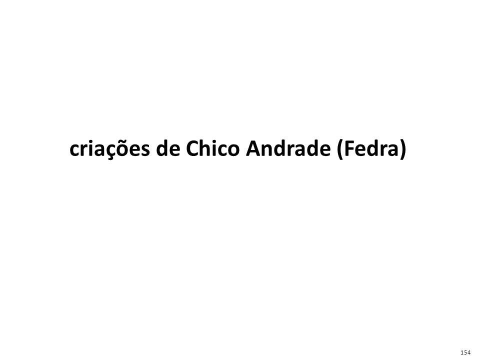 criações de Chico Andrade (Fedra)