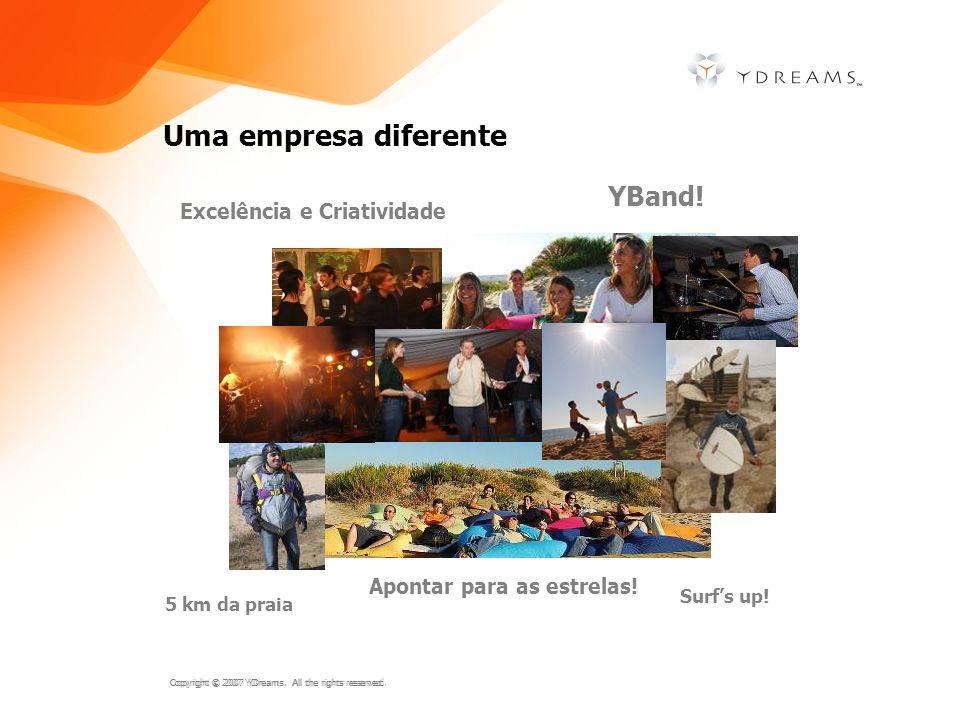 Uma empresa diferente YBand! Excelência e Criatividade