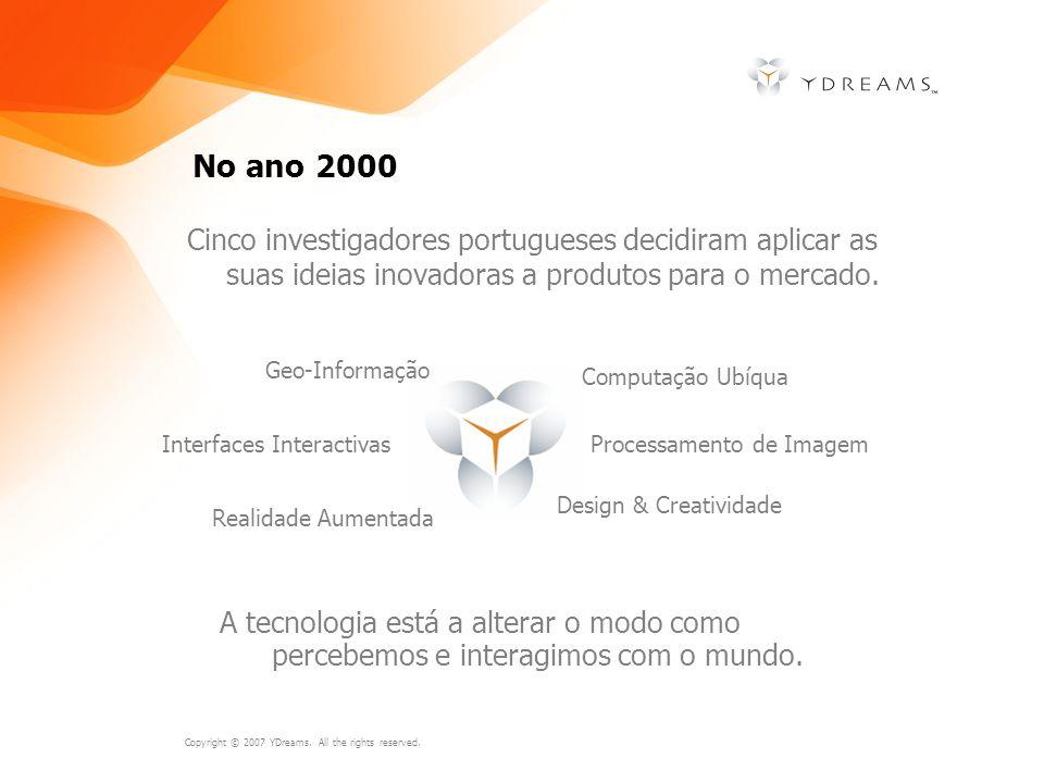 No ano 2000 Cinco investigadores portugueses decidiram aplicar as suas ideias inovadoras a produtos para o mercado.
