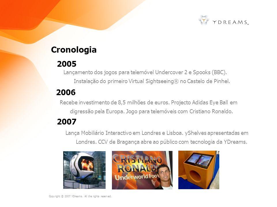 Cronologia 2005. Lançamento dos jogos para telemóvel Undercover 2 e Spooks (BBC). Instalação do primeiro Virtual Sightseeing® no Castelo de Pinhel.