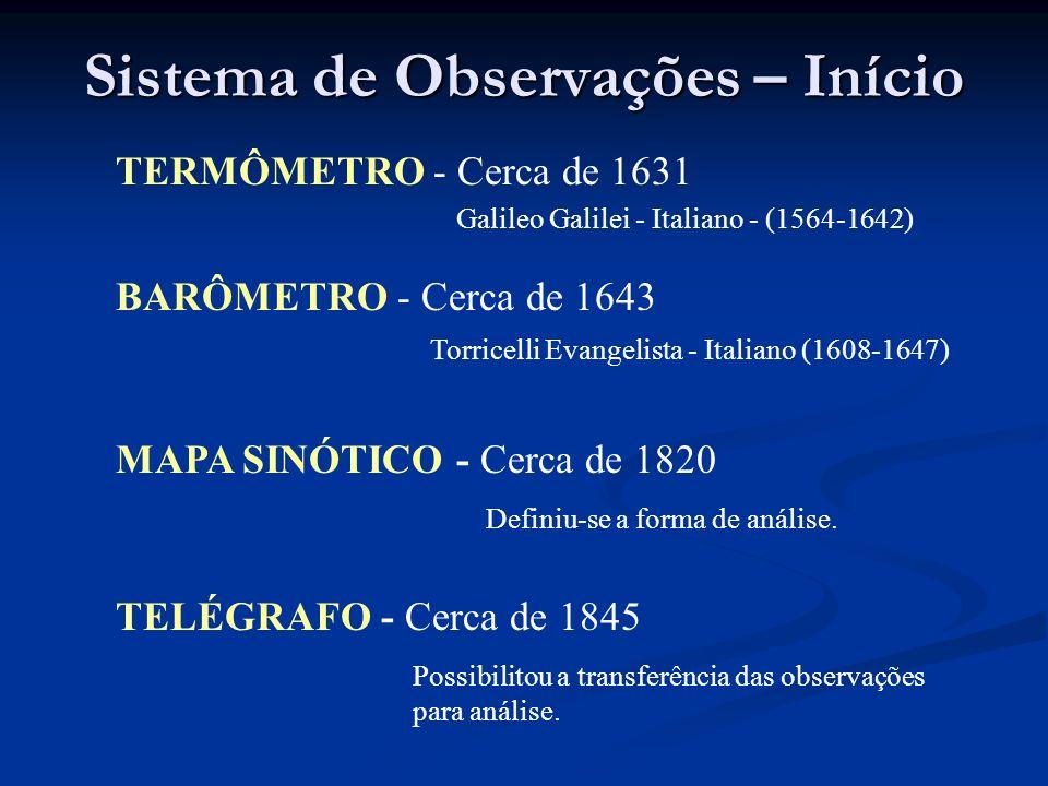 Sistema de Observações – Início