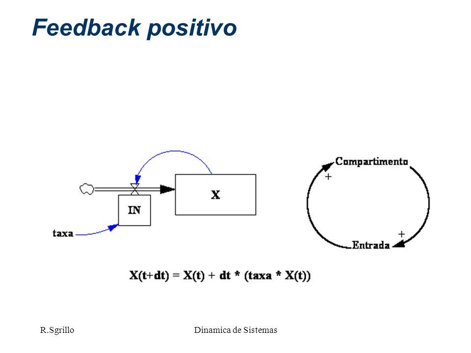 Feedback positivo R.Sgrillo Dinamica de Sistemas