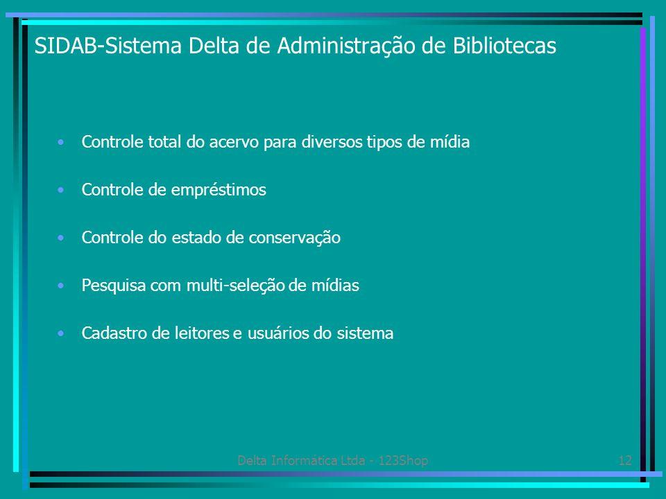 SIDAB-Sistema Delta de Administração de Bibliotecas